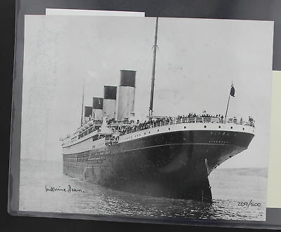 Titanic Autographed Picture Signed By Millvina Dean