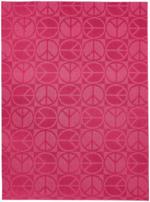 Garland Rug Large Peace Area Rug, 5-Feet by 7-Feet, Pink New