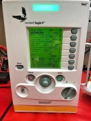 Impact / Zoll (Uni-Vent) 731 Eagle II Portable Ventilators with Calibration!!!