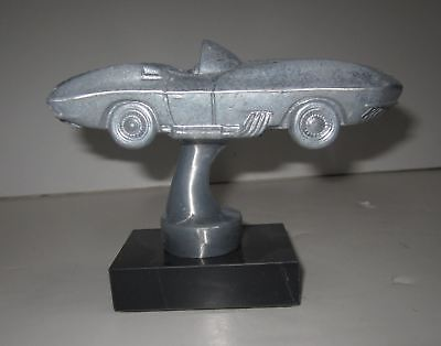1961 Mako Shark Corvette Chevrolet auto car desk model sanded aluminum USA