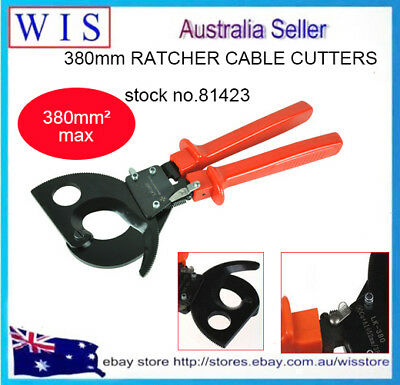 "11""(330cm) Heavy Duty Ratchet Cable Cutter Cable Cutting Tool 380mm² Max -81423"