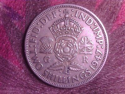 Great Britain    Two  Shilling  1947