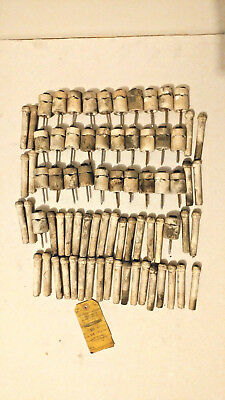 Lot of 75 Vintage Ceramic KNOB & TUBE Electrical Wiring Insulators