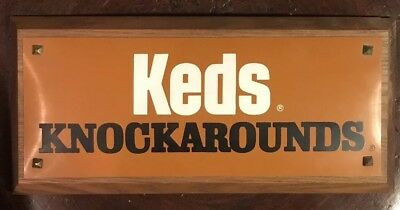 Vintage KEDS sneakers Knockarounds wooden sign 1960's