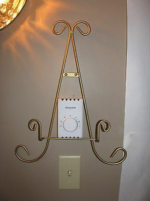 Plate Rack, Wall Mount, Display Rack, Plate Holder, 1 plate, Gold, Nice