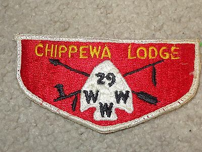 Boy Scout BSA Chippewa OA Lodge 29 Clinton Valley Council Michigan S2 Flap Patch