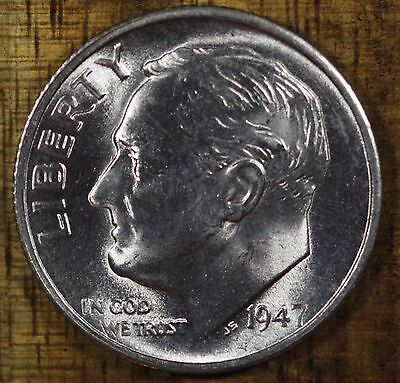 1950 P Roosevelt Dime CH BU LUSTER 90/% Silver US Coin From OBW Roll