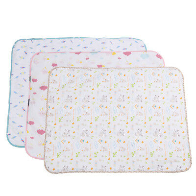 Baby Diaper Nappy Urine Mat Kid Waterproof Bedding Changing Cover Pad New 3Color