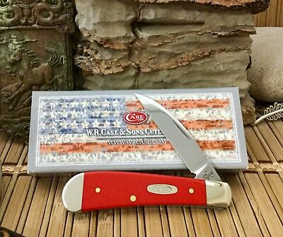 Case XX Really Beautiful SmOoth RED Swayback Jent Pocket Knife