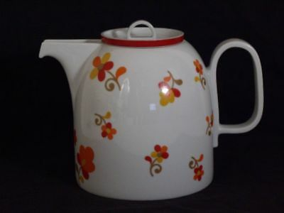 Tea Coffee Pot Service BLOCK PAPRIKA Hearthstone Vista Alegre Portugal Dishes