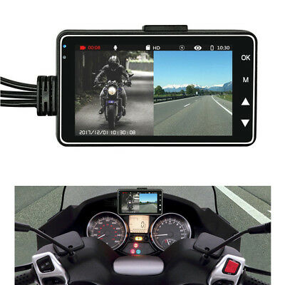 """Motorcycle DVR 3"""" LCD+140°Dual Waterproof Camera Support video sync recording"""