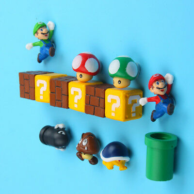 1 PC 3D Super Mario Fridge Magnet Sticker Refrigerator Decoration