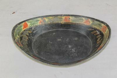 A Fine 19Th C Paint Decorated Tin Toleware Bread Tray Great Painted Design