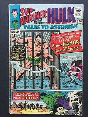 "Tales to Astonish # 70 August 1965 VG ""FIRST SUB-MARINER!"""