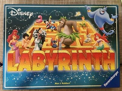 Vintage Collectable Ravensburger Disney Labyrinth Board Game Complete exc. cond