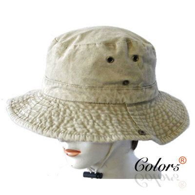 Color5 NEW Men Women Unisex Cotton Bucket Hat Camping Fishing Outdoor Sports
