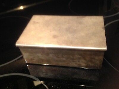 Vintage Silver Box Jewelry Case Victorian Antique Silver Trinket Box