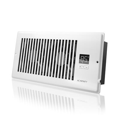 "AIRTAP T4, Quiet Register Booster Fan, Heating / Cooling 4 x 10"" Registers White"