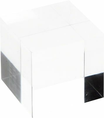 """Plymor Brand Clear Polished Acrylic Square Display Block, 2"""" H x 2"""" W x 2... New"""