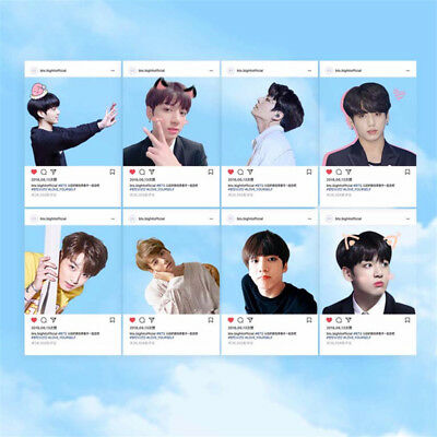 8pcs/set KPOP BTS JUNG KOOK Transparent Card Bangtan Boys Ins Photocard