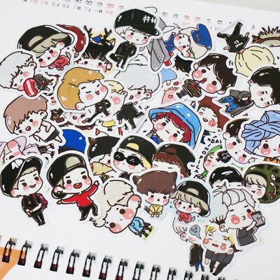 KPOP Cartoon Got7 Mark BamBam JinYoung JB Decal Stickers Scrapbook 105pcs/Set