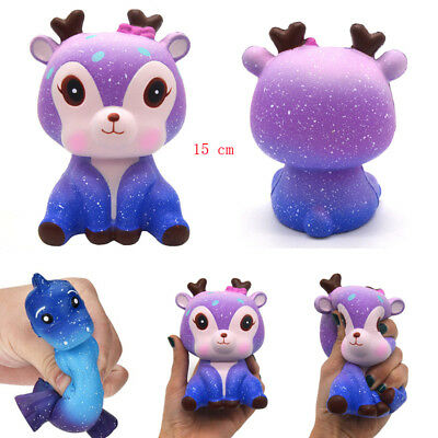 USASTOCK 15CM Deer Cream Scented Squishy Slow Rising Squeeze Strap Kids Toy Gift