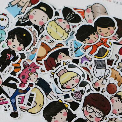 KPOP Bangtan Boys BTS Got7 Cartoon Cute Decal Stickers Scrapbooking 70pcs/Set