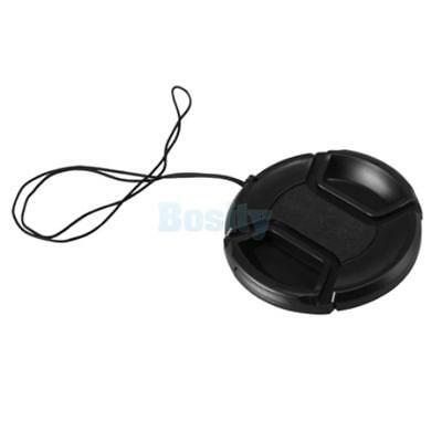 58mm Snap-on Front Lens Cap Cover w/ Cord for canon eos Rebel 18-55-250 Sony