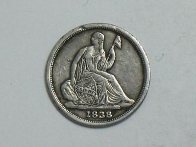 1838-O Seated Liberty Half Dime