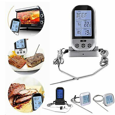 230 Feet Digital Wireless Remote Smoker Cooking Food Meat Thermometer for BBQ