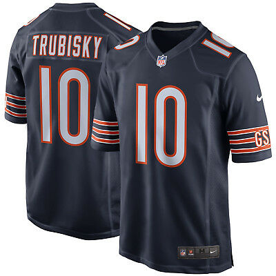 Mitch Trubisky NFL Chicago Bears #10 Dark Game Jersey - size medium