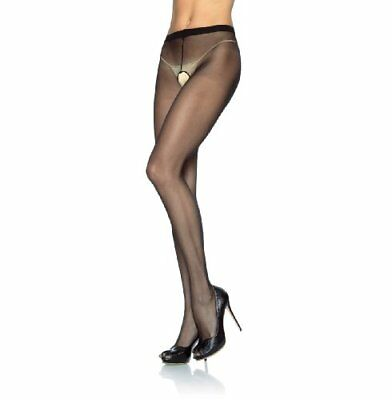 Collant Velato Aperto Hosiery Sheer Crotchless Black