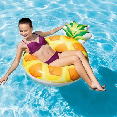 Intex Large Inflatable Pineapple Tube Swim Ring Pool Float Lilo Beach Summer Toy