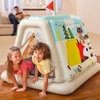 ~ NEW INTEX 48634 Animal Trails Indoor Play Tent house KIDS fun owl fox BEST !~