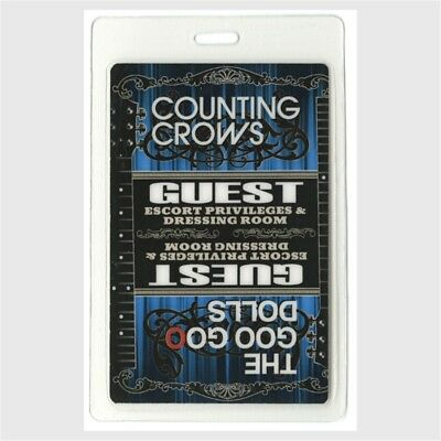 Counting Crows authentic 2008 concert Laminated Backstage Pass Goo Goo Dolls