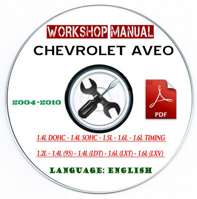 Manuale Tecnico Workshop Manual Chevrolet Aveo 2004-2010 Service CD O Mail
