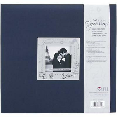 Scrapbooking Album words of Expression navy 12x12 inch