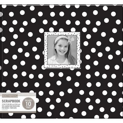 Scrapbooking Album 12x12 inch Black and white dots