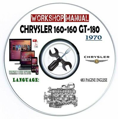 Workshop Manual Chrysler 160 GT 180 Service Repair Manuale Officina CD O Mail