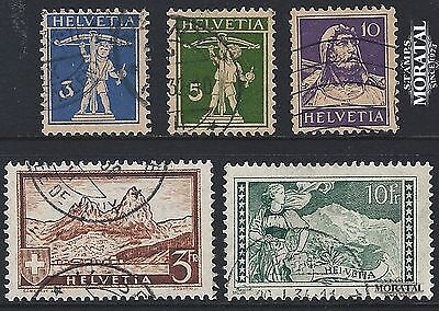 1930 - Swiss Yv 241/245 Usedgood Condition Tell - Mythen - Jungfrau