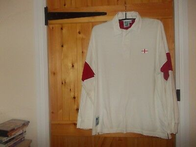 White England 1999  Rugby Union World Cup Shirt Size Large  Rugby World Cup Ltd