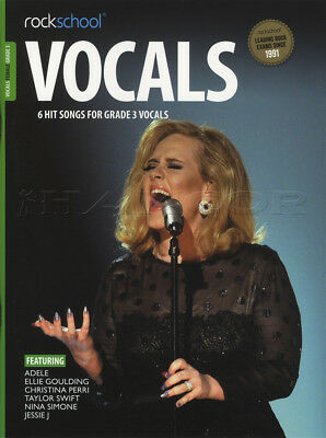 Rockschool Vocals Female Singers Grade 3 Music Book with Audio Adele Jessie J