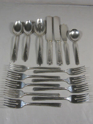 Silver plate 1881 ROGERS Mied Lot of 15 Pcs vintage