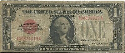 1928 $1.00 United States Note (Red Seal) FR 1500