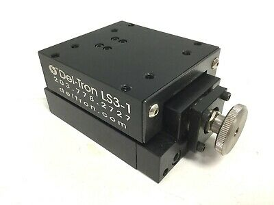 """Del-Tron LS3-1-B10 Linear Table Manual Posi-Drive Positioning Stage, 1"""" Travel"""