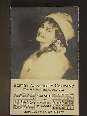 Robert Keasbey Company New York Asbestos Magnesia Products Advertising Card