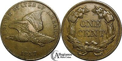 1857 1c Flying Eagle Cent EF XF original rare old type coin penny money
