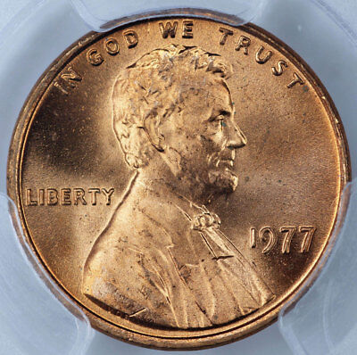 1977 PCGS MS66RD Lincoln Cent