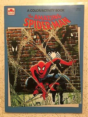 """Vintage """"The Amazing Spiderman"""" 1992 Coloring Activity Book, new Condition!"""