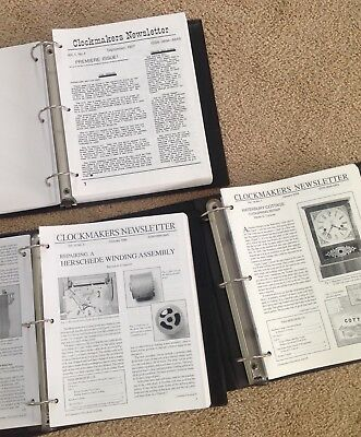Steven Conover Clockmakers Newsletter Clock Repair Complete 256 Issues!